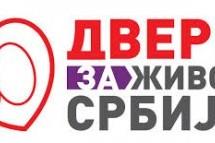 Dveri o upadu u prostorije Pokreta u Beogradu